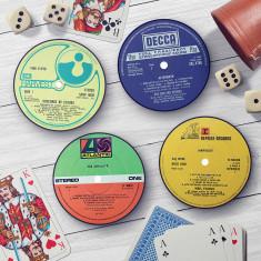 Classic Rock record label coasters
