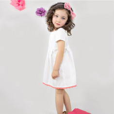Cotton satin reverse dress