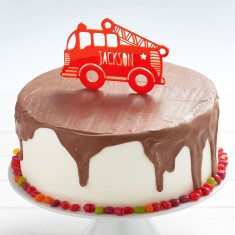 Personalised Fire Engine Birthday Cake Topper