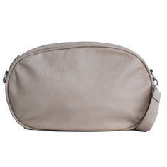 Leather Dasher Bag - Grey