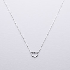 Forever loved silver heart necklace
