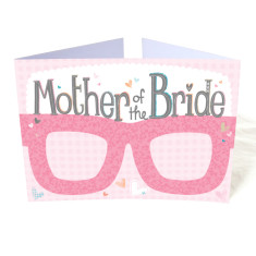 Mother of the bride hen party card glasses