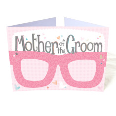 Mother of the groom hen party card glasses