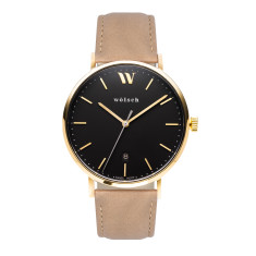 Versa 40 Watch In Gold with Latte Band