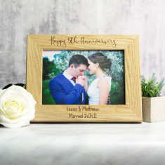 Personalised 5th Anniversary Wood Photo Frame Gift