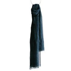 Indigo linen scarf