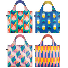 LOQI geometric II collection reusable bag (various designs)