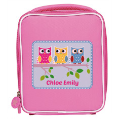 Personalised friendly owl lunch bag