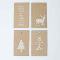 Christmas gift tags - white