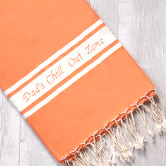 Personalised Embroidered Fouta Beach Towel