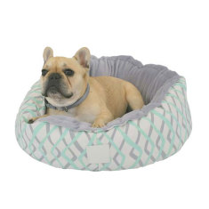 Mint Herringbone snug pet bed