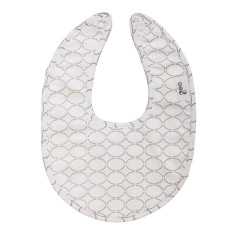 Dribble bib in Clear Skies grey