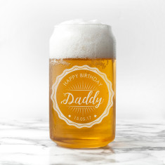 Personalised Happy Birthday Can Glass