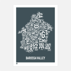 Barossa Valley typographic print