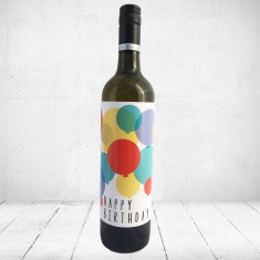Happy Birthday - Large Greeting card for wine