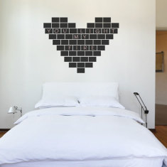 Reusable chalkboard tiles wall decal