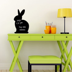 Chalkboard bunny repositionable wall decal