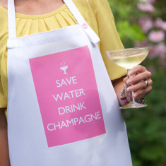 Save water drink Champagne apron