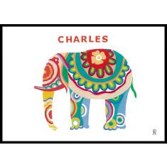 Personalised elephant art print
