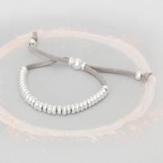 Harper Personalised Suede Bead Bracelet