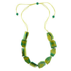 Eloquence artisan single edge necklace in zest
