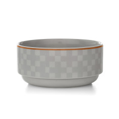 Check stacking bowl in dove