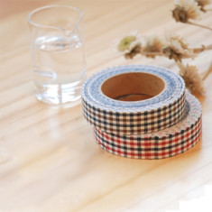 Fabric tape in checked