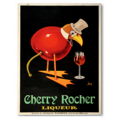 Vintage Cherry Rocher ready to hang canvas print