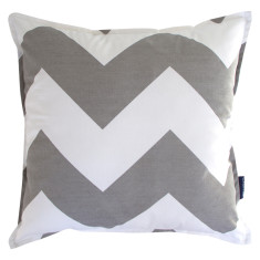 Chevron cushion cover in grey