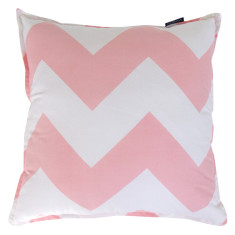 Chevron cushion cover in pink
