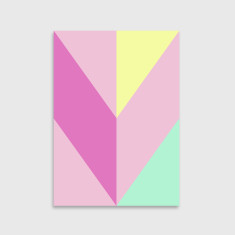 Chevron art print in pink