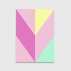 Chevron art print in pink