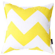 Chevron cushion cover in yellow