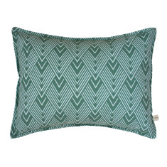 Chevron in bluegum cushion