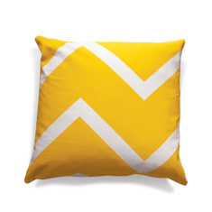 Chevron chic yellow cushion cover