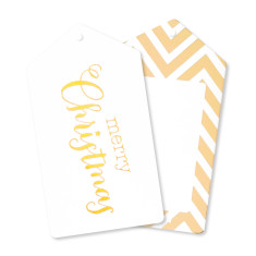 Gold Christmas gift tags (pack of 12)