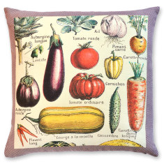 Millot Vegetables linen cushion cover