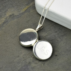 Monogram Personalised Sterling Silver Locket