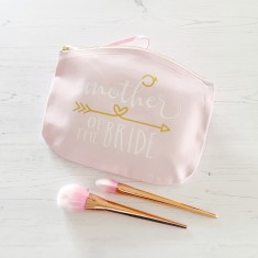 Mother of the bride makeup bag with hidden date