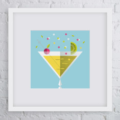 Chin chin cocktail art print