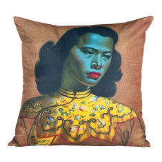 Chinese girl cushion
