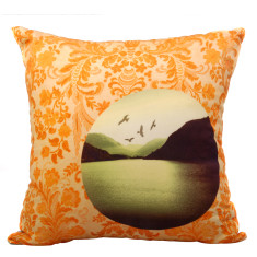 Chintz sunset cushion