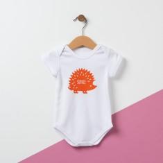 Personalised Hedgehog Baby Bodysuit