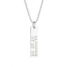 Chloe personalised sterling silver pendant