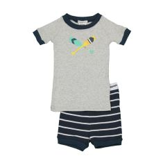 Boys' Charlie stripe rowing oars shortjohn pj set