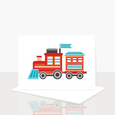 Choo Choo Train Greeting Card (Pack of 8)