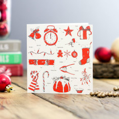 Christmas delights greeting card (pack of 6)