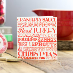 Christmas dinner greeting card (pack of 6)