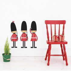 Queen's guards fabric wall stickers