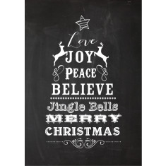Christmas blackboard typographic print